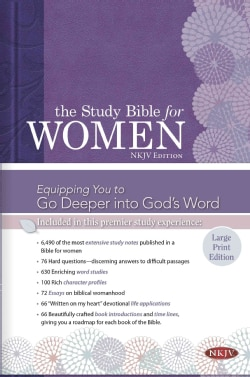 Holy Bible: Study Bible for Women, New King James Version (Hardcover)
