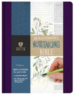 The Holy Bible The Illustrator's Notetaking Bible: Holman Christian Standard, Purple Linen (Paperback)