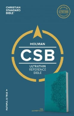 Holy Bible: Christian Standard Bible, Ultrathin Reference Bible, Teal Leathertouch (Paperback)