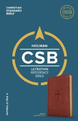 Holy Bible: Christian Standard Bible, Ultrathin Reference Bible, Brown Leathertouch (Paperback)