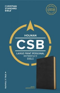 The Holy Bible: Christian Standard Bible, Black Leathertouch, Personal Size Reference Bible  (Paperback)