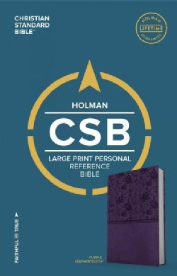 Holy Bible: Christian Standard Bible, Personal Size Reference Bible, Purple Leathertouch, Large Print (Paperback)