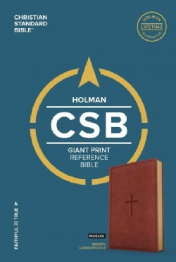 The Holy Bible: Christian Standard Bible, Brown Leathertouch, Giant Print Reference Bible (Paperback)