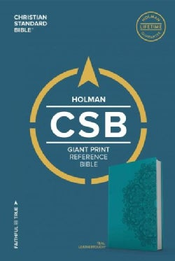 Holy Bible: Christian Standard Bible, Giant Print Reference Bible, Teal Leathertouch (Paperback)