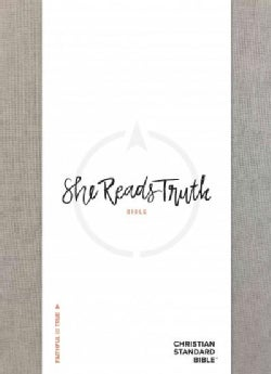 She Reads Truth Bible: Christian Standard, Gray Linen (Hardcover)