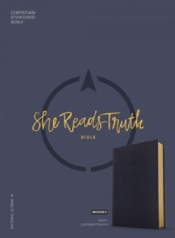 She Reads Truth Bible: Christian Standard Bible, Navy Leathertouch, Indexed (Paperback)