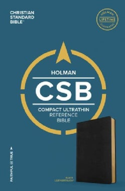 Holy Bible: Christian Standard Bible, Black, Leathertouch, Ultrathin Reference (Paperback)