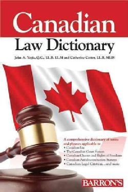 Canadian Law Dictionary (Paperback)