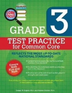 Barron's Core Focus Grade 3 Test Practice for Common Core (Paperback)