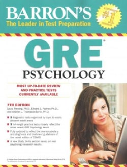 Barron's GRE Psychology: Graduate Record Examination in Psychology (Paperback)