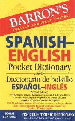 Barron's Spanish-English Pocket Dictionary / Diccionario de bolsillo Espanol-Ingles: 70,000 Words, Phrases & Exam... (Paperback)