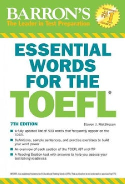 Barron's Essential Words for the TOEFL: Test of English As a Foreign Language (Paperback)