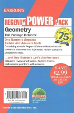 Geometry Power Pack: Barron's Regents Exams and Answers Geometry / Let's Review Geometry (Paperback)