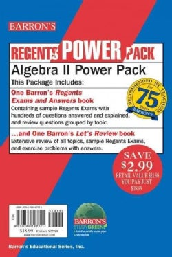 Algebra II Power Pack: Barron's Regents Exam and Answers Book / Barron's Let's Review Book
