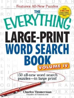 The Everything Large-Print Word Search Book: 150 All-New Word Search Puzzles - in Large Print! (Paperback)