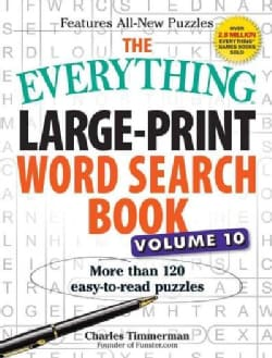 The Everything Large-Print Word Search Book: More Than 120 Easy-to-Read Puzzles (Paperback)