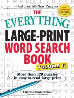 The Everything Large-Print Word Search Book: More Than 120 Puzzles (Paperback)
