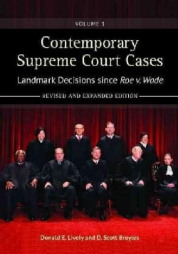 Contemporary Supreme Court Cases: Landmark Decisions Since Roe v. Wade (Hardcover)