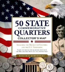 50 State Commemorative Quarters Collector's Map: Including the District of Columbia and the U.s Territories (Hardcover)