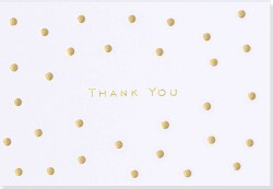 Gold Dots Thank You Notes (Cards)