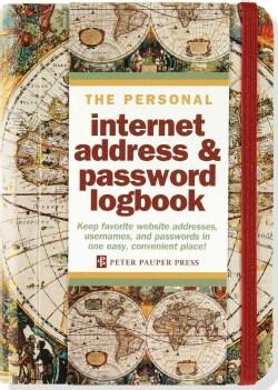 Old World Internet Address & Password Logbook (Address book)