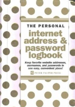 Gold Dots Internet Address & Password Logbook (Address book)
