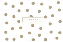 Gold Dots Guest Book (Record book)