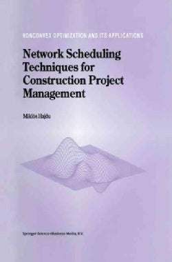 Network Scheduling Techniques for Construction Project Management (Paperback)