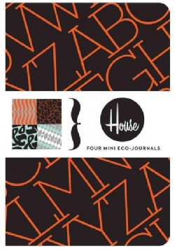 House Industries Mini Eco-journals: Four Mini Eco-journals (Notebook / blank book)
