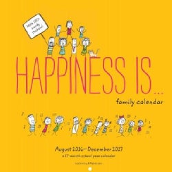Happiness Is... 2017-2018 Family Calendar: 17 Month (Calendar)
