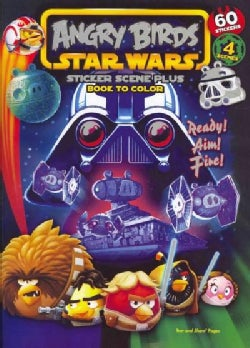 Angry Birds Star Wars: Sticker Scene Plus Book to Color (Paperback)