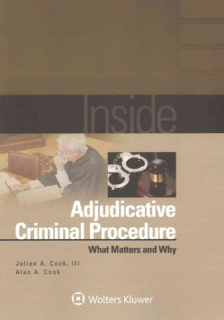 Inside Adjudicative Criminal Procedure: What Matters and Why (Paperback)