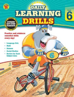 Daily Learning Drills, Grade 6 (Paperback)