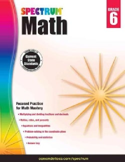 Spectrum Math, Grade 6 (Paperback)