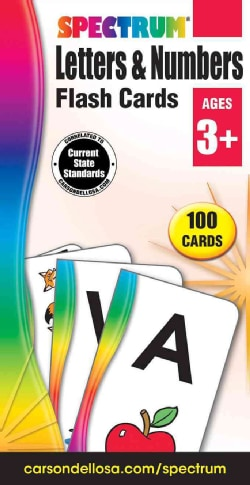 Spectrum Letters & Numbers Flash Cards (Cards)
