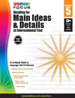 Spectrum Reading for Main Ideas and Details in Informational Text, Grade 5 (Paperback)