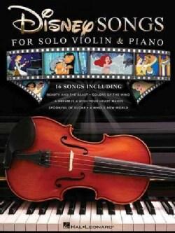 Disney Songs for Solo Violin & Piano (Paperback)