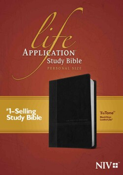 Life Application Study Bible: New International Version, Black / Onyx Leatherlike, Tutone, Personal Size (Paperback)