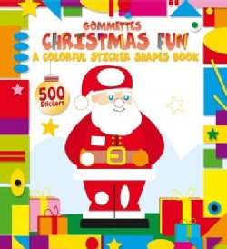 Christmas Fun: A Colorful Sticker Shapes Book (Paperback)