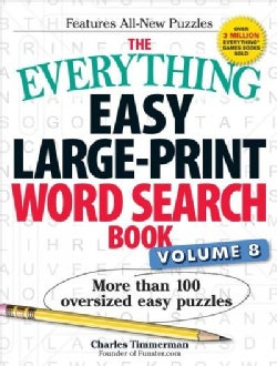 The Everything Easy Word Search Book: More Than 100 Oversized Easy Puzzles (Paperback)