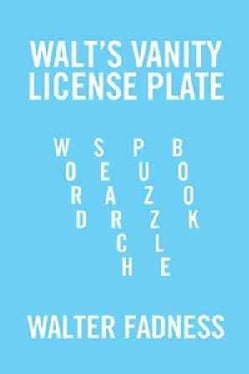Walt's Vanity License Plate: Word Search Puzzle Book (Hardcover)