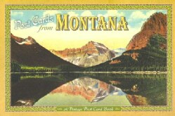 Post Cards from Montana: A Vintage Post Card Book (Paperback)