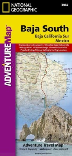 National Geographic Adventure Map Baja South: Baja California Sur Mexico (Sheet map, folded)