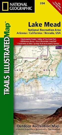 National Geographic Lake Mead National Recreation Area Trails Illustrated Map: Arizona / California / Nev... (Sheet map, folded)