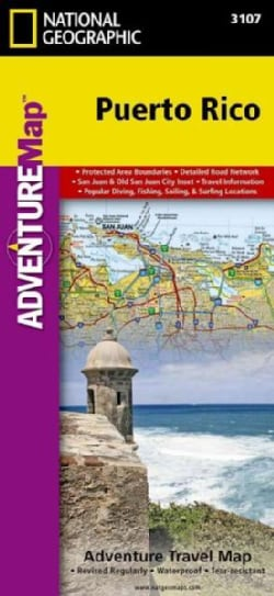 National Geographic Puerto Rico : North America: Adventure Travel Map (Sheet map, folded)