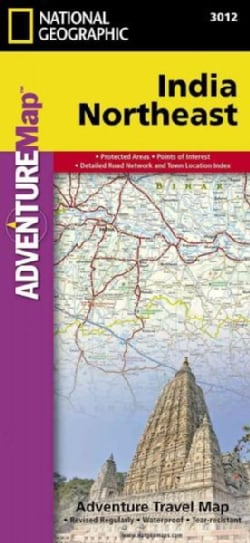 National Geographic Adventure Map India Northeast (Sheet map)