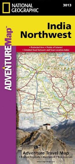 National Geographic Adventure Map India Northwest (Sheet map, folded)