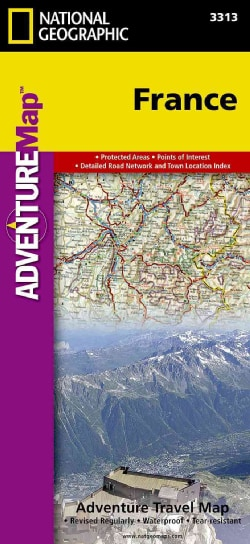 National Geographic Adventure Map France (Sheet map, folded)