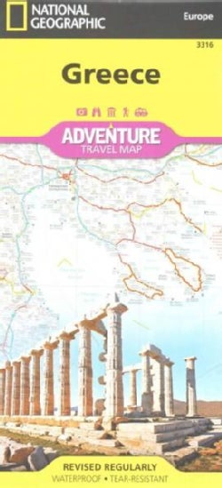 National Geographic Europa Greece Adventure Travel Map (Sheet map, folded)