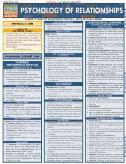 Psychology of Relationships Quick Reference Guide (Cards)